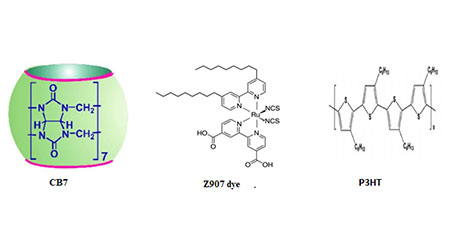 Admittance spectroscopy analysis of dye-sensitised solar cells with host-guest complexes