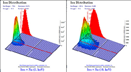 Simulation of very-low energy alkali ion (≤ 10 KeV) induced effects on Al2O3 micro flakes